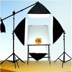 Bộ kit studio 4 đèn 1 bàn chụp