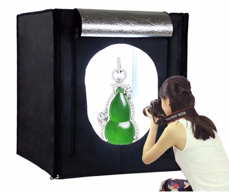 Hộp chụp sản phẩm đèn LED 80x80cm