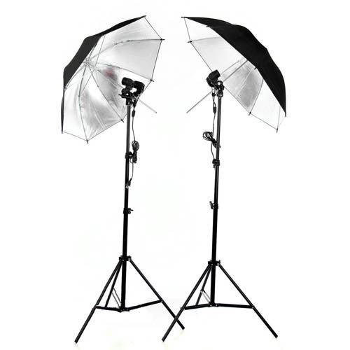 Bộ đèn chụp đôi dù phản LED360 40w