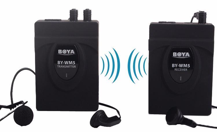 Micro thu âm cài áo không dây BY-WM5