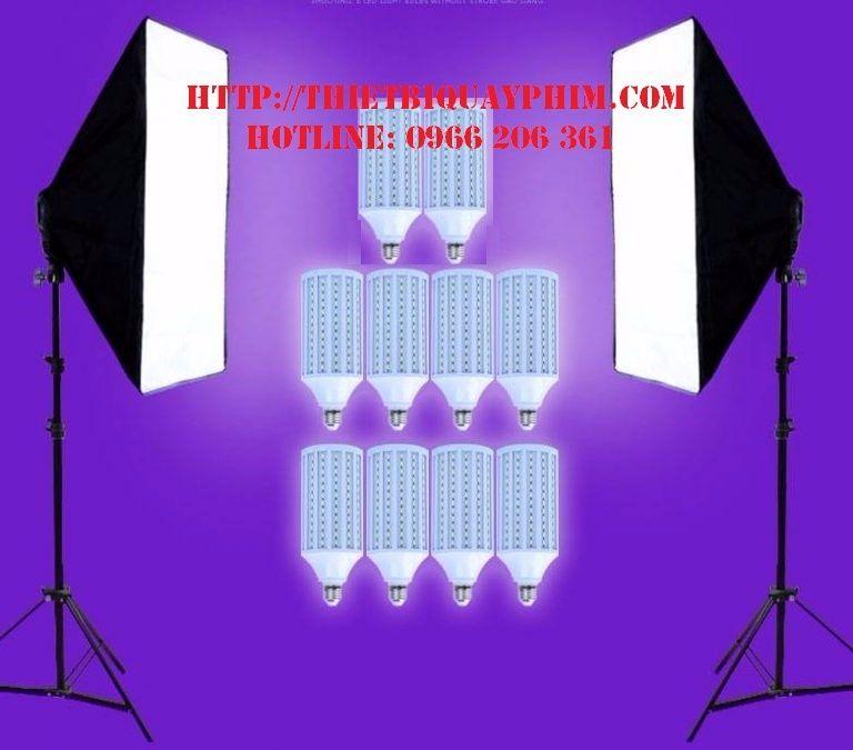 Bộ 2 đèn 5 bóng LED360 40w + Softbox 60x90