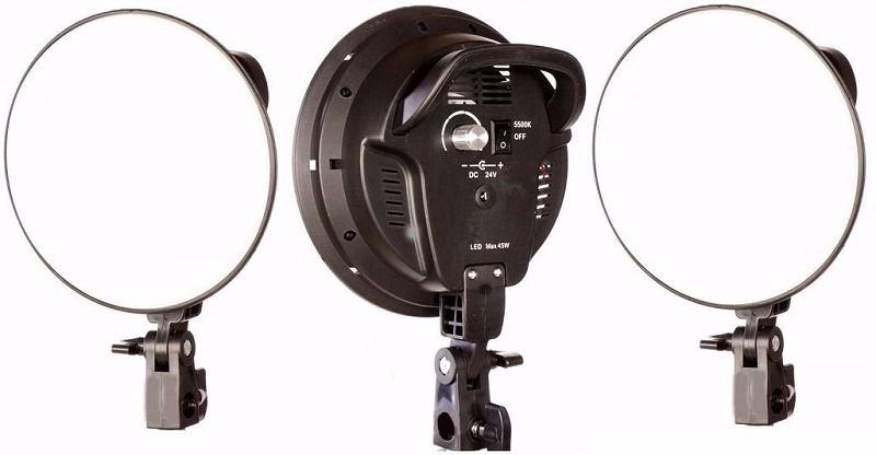 bộ 3 đèn led quay phim 45w