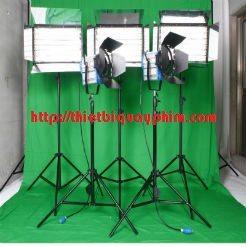 Bộ 5 đèn quay phim và phông xanh studio