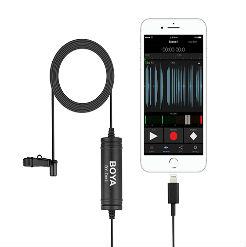 Micro thu âm cài áo BOYA BY-DM1 cổng Lightning cho Iphone Ipad