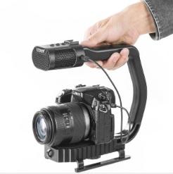 Tay cầm chũ C kèm mic cho máy ảnh smartphone chính hãng Sevenoak