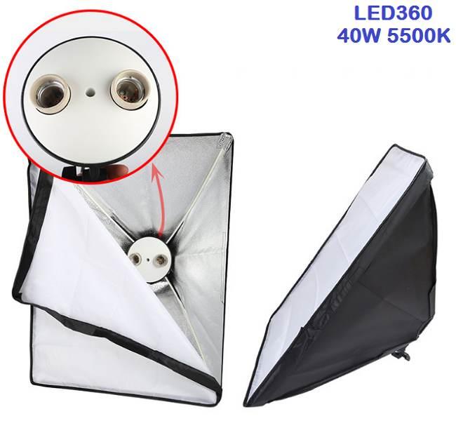 Bộ kit studio 2 đèn 2 bóng LED360 40w