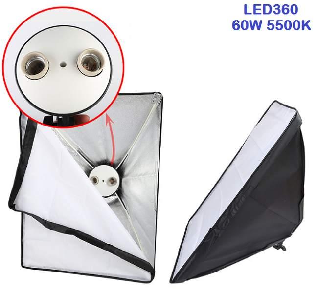 Bộ kit studio 2 đèn 2 bóng LED360 60w