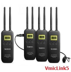 Micro thu âm Saramonic VmicLink5 5.8GHZ Rx+Tx+Tx+Tx