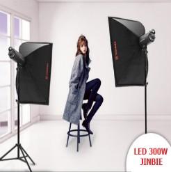 Bộ 2 đèn led studio 300w Jinbei