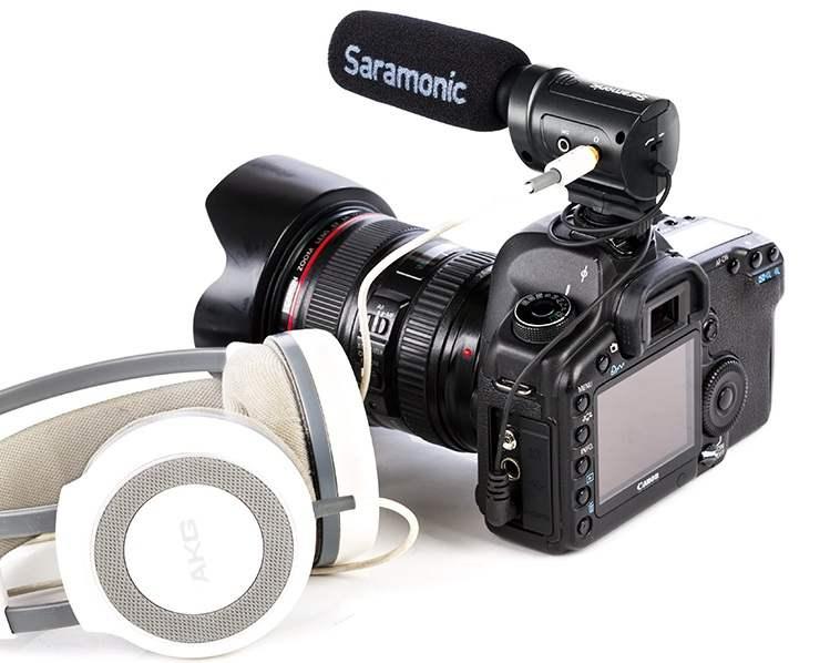 Mic thu âm Saramonic SR-M3 cho máy ảnh DSRL