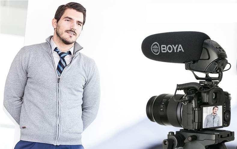 mic thu âm shotgun cho máy ảnh boya bm3031
