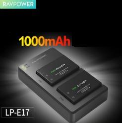 Bộ pin sạc Ravpower LP-E17 cho máy ảnh Canon