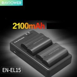 Bộ pin sạc Ravpower EN-EL15 cho máy ảnh Nikon