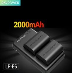 Bộ pin sạc Ravpower LP-E6 cho máy ảnh Canon