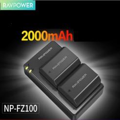 Bộ pin sạc Ravpower NP-FZ100 cho máy ảnh Sony