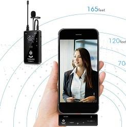 Micro thu âm không dây cài áo iphone YC-WM500A1