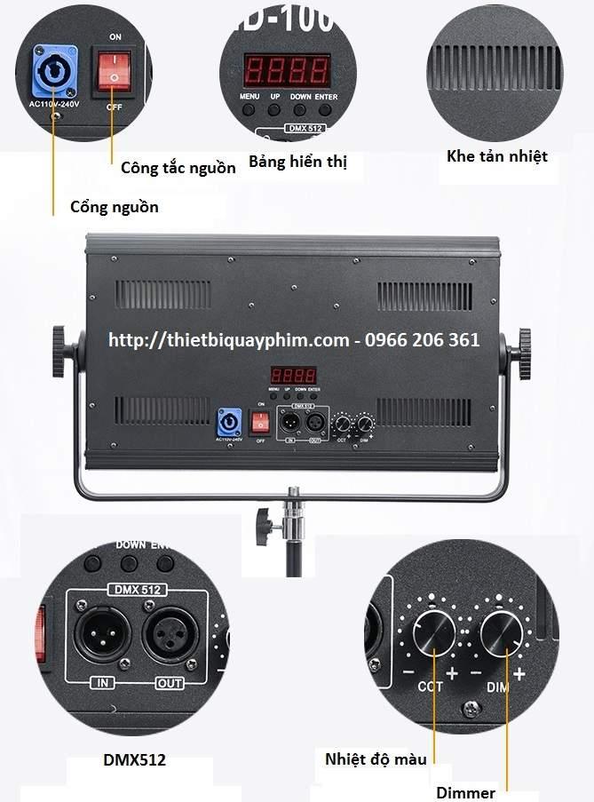 Đèn LED quay phim 100w TY-LED1200 T&Y