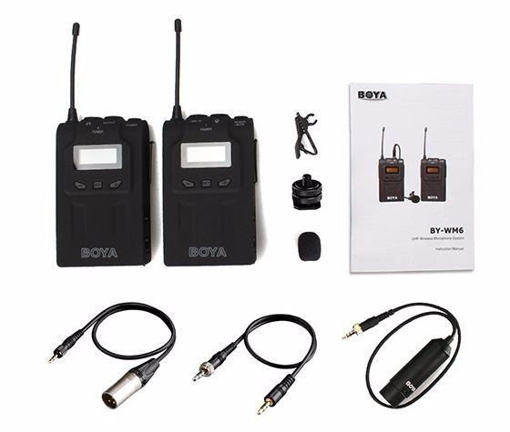 Micro thu âm cài áo không dây BY-WM6 BOYA