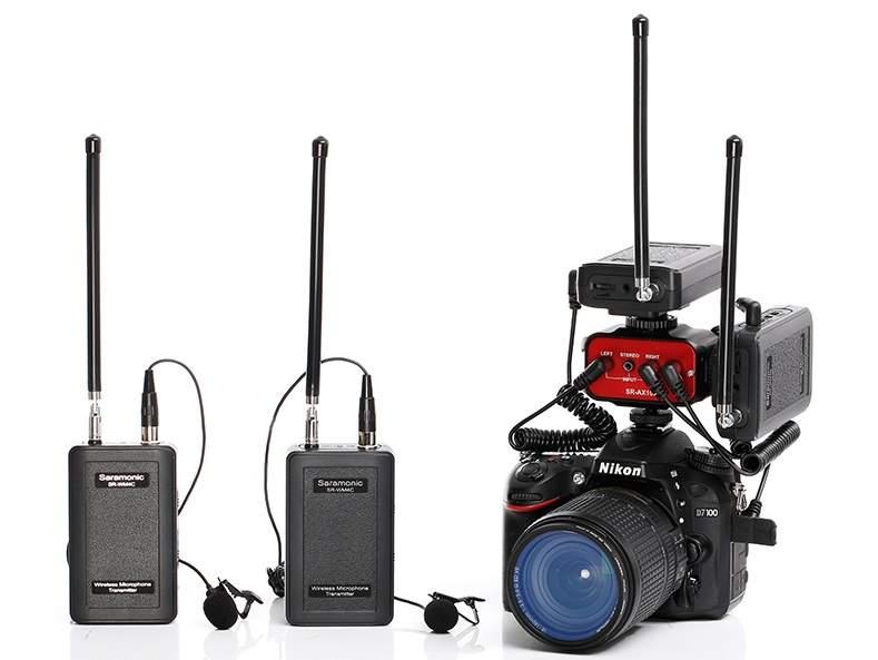 SR-AX100 camera audio adapter