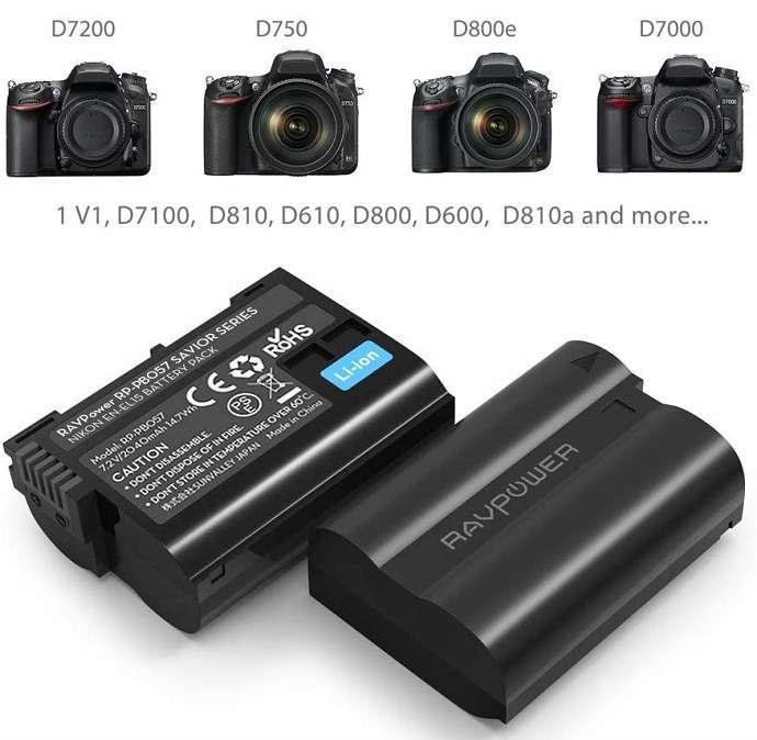 Bộ 2 Pin máy ảnh RAVPower RP-BC057 cho Nikon EN-EL15