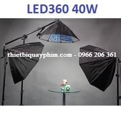 Combo 3 đèn LED360 40w softbox bát giác 75cm