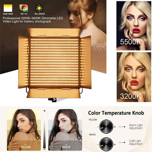 Đèn led bảng studio D-1080 II 80w yidoblo 2020
