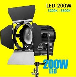 Đèn quay phim Spotlight LED 200W DMX 512