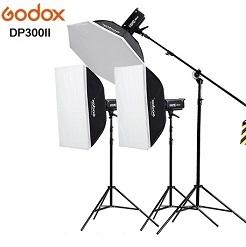 Bộ 3 đèn flash chụp ảnh Godox DP300II