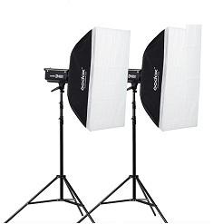 Bộ 2 đèn flash chụp ảnh Godox DP400II chính hãng
