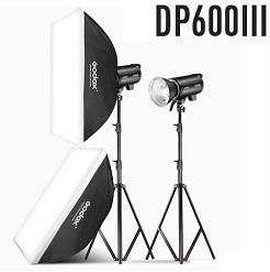 Bộ 2 đèn flash chụp ảnh Godox DP600III