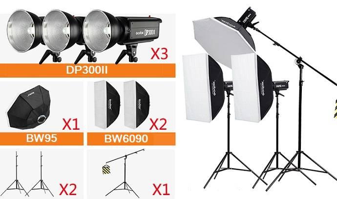 Bộ 3 đèn chụp ảnh Godox DP300II