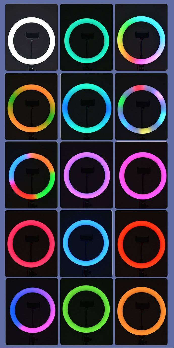 đèn led ring chụp ảnh rgb mj33 giá rẻ