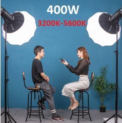Bộ 2 đèn led studio DS-200S 400w (3200K-5600K)