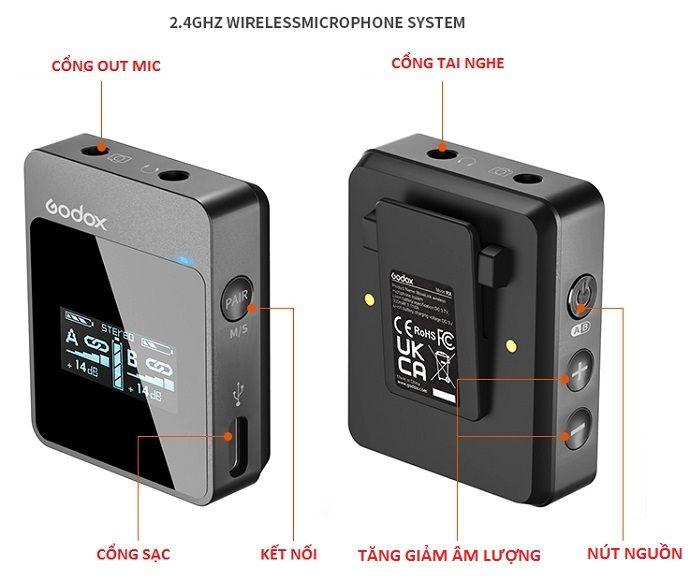 Micro thu âm Godox MoveLink M1 chính hãng