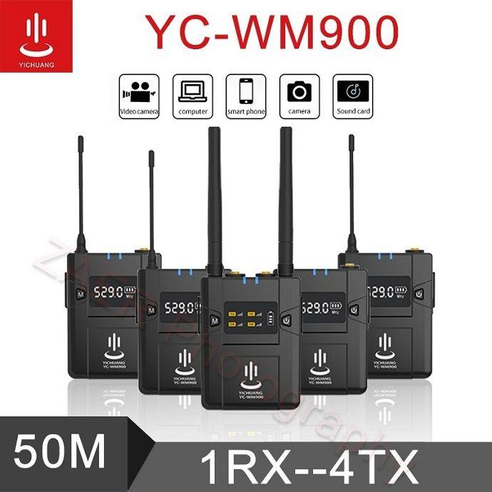 Micro thu âm cài áo 4 người YC-WM900